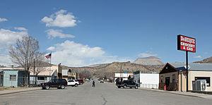De Beque, Colorado - Minter Avenue in De Beque, March, 2013.