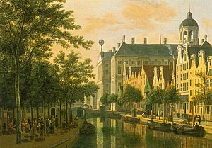 Cornelis de Graeff - The rear of the townhall by Gerrit Berckheyde.