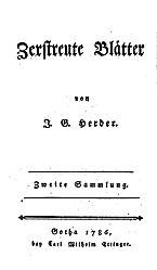 Zerstreute Blätter. 2. Sammlung