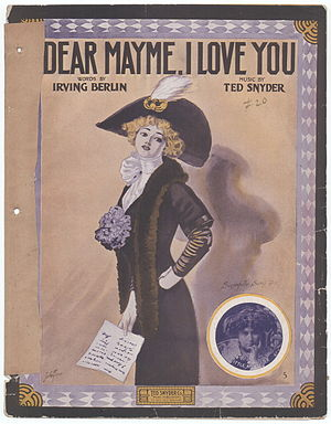 """Dear Mayme, I love you"" sheet music..."