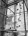 deel van oude binnenmuur met dagkant van een doorgang - kampen - 20122132 - rce