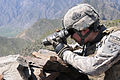 Defense.gov News Photo 100406-A-0846W-082 - U.S. Army Pvt. Michael S. Walters monitors an Afghan National Army visit to Nishigam village in the eastern Kunar province of Afghanistan on April.jpg