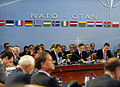 Defense.gov News Photo 100609-F-6655M-003 - Secretary General of the North Atlantic Treaty Organization Anders Fogh Rasmussen left welcomes Defense Ministers to NATO Headquarters in Brussels.jpg