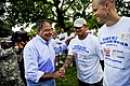 Defense.gov News Photo 110910-F-RG147-267 - Secretary of Defense Leon E. Panetta meets with veterans and service members who volunteered their time during the 9 11 National Day of Service and.jpg