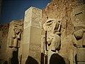 Deir-El-Bahri, Temple of Hatshepsut Hathor statues (9794725295).jpg