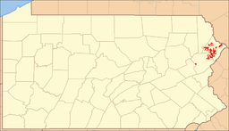 Location of Delaware State Forest in Pennsylvania