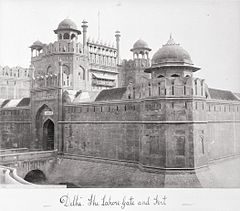 Delhi, The Laore Gate and Fort LACMA M.90.24.16.jpg