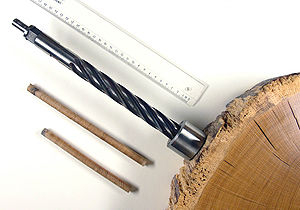 Dendrochronology - Drill for dendrochronology sampling and growth ring counting