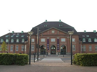 Odense station - Second station building, in use 1914–1995.