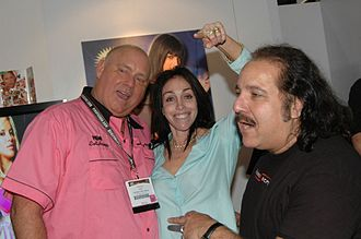 Ron Jeremy - Dennis Hof, Heidi Fleiss, and Jeremy at the Adult Video Network Convention in Las Vegas, 2006