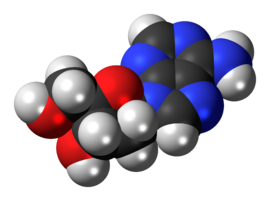 Space-filling model of the deoxyadenosine molecule