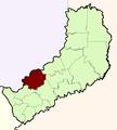 Emplacement du Departamento dans la Provincia de Misiones.