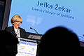 Deputy Mayor Jelka Žekar accepts the award (13713975735).jpg