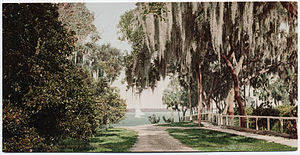 Rockledge, Florida - A view of early Rockledge, FL and the Indian River