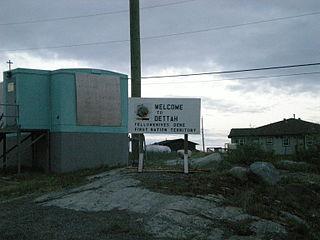 Dettah Yellowknives Dene First Nation in Northwest Territories, Canada