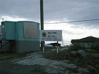Dettah - Image: Dettah sign