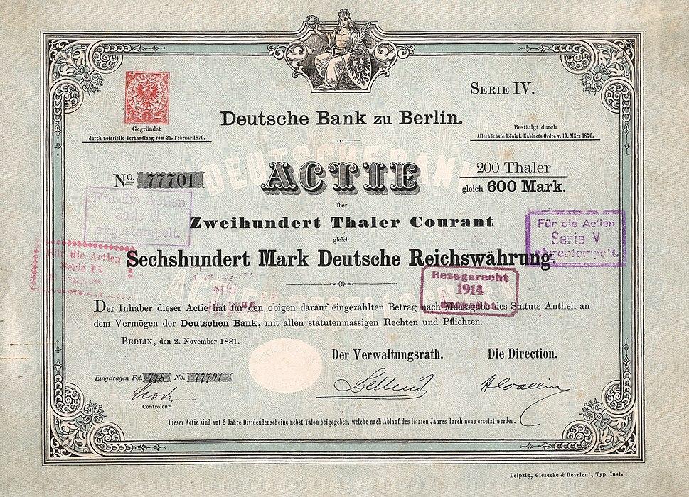 Deutsche Bank 1881