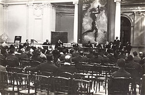 Pan-African Congress - Session in the Palais Mondial, Brussels, 1921