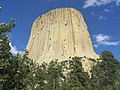 Devil's Tower National Monument Blue Sky.jpg