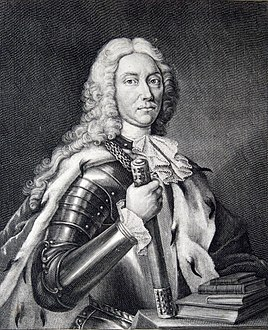 Dimitrie Cantemir - Portrait from Descriptio Moldaviae, 1716 (crop).jpg