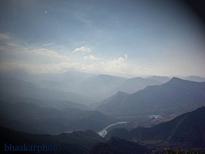 Seti River - Seti River valley with Dipayal, Nepal (left side)