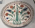 Dish from Turkey (Iznik), Ottoman empire, c. 1565.JPG