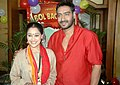 Disha Vakani, Ajay Devgn 'Bol Bachchan' team on the sets of Taarak Mehta Ka Ooltah Chashmah 13.jpg