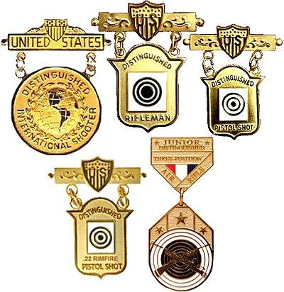 Distinguished Shooter Badges