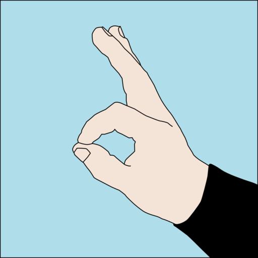 Dive hand signal OK 1