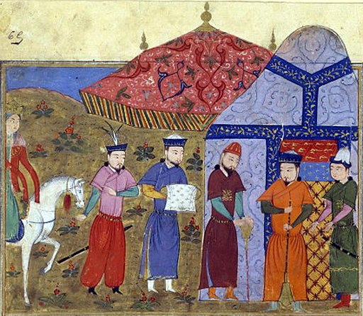 Djengiz Khân et les envoyés chinois