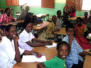 Education in Djibouti - Students in a classroom in Djibouti