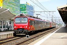 Two Z 5700 two-car units in being worked in multiple at Gare de ...