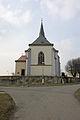 Dohalice - kostel sv. Jana Křtitele zezadu.JPG