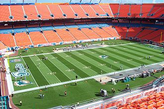 Super Bowl XLIV - The then-named Sun Life Stadium, the venue of Super Bowl XLIV