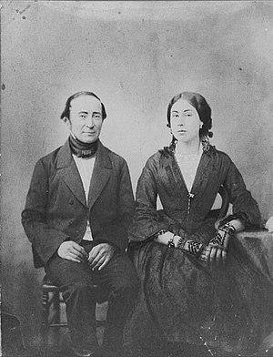 Ignacy Domeyko - Domeyko; wife, Enriqueta Sotomayor y Guzmán, 1854