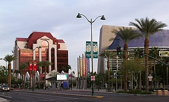 Mesa, Arizona - Mesa Bank and Mesa Arts Center building in downtown Mesa