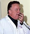 Dr. R Adams Cowley on radio.jpg