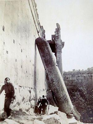 Dragoman - Dragoman Joseph Shaar. Temple of Jupiter, Baalbek, 1891
