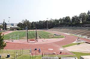 UCLA's Drake Stadium, from the north.