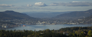 Drammen, Norway, seen from the east