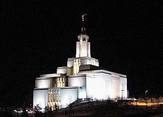 Draper Utah Temple - A night view during the open house