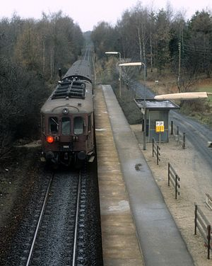 Little North Line - Train on the Little North Line at Grønholt halt in 1983.
