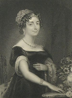 Charlotte Percy, Duchess of Northumberland - Engraving of the Duchess published by La Belle Assemblée in 1829