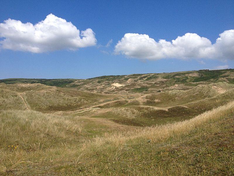 Photographie du massif dunaire de Biville.
