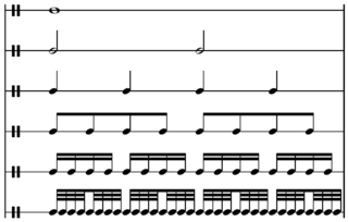Whole note musical note duration