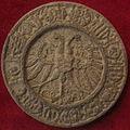 Durer, imperatore carlo V, norimberga 1521 (calco del retro).JPG