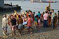 Durga Idol Immersion - Baja Kadamtala Ghat - Kolkata 2012-10-24 1626.JPG