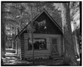 EAST FRONT - Paulina Lake IOOF Organization Camp, Cabin No. 9, Deschutes National Forest, La Pine, Deschutes County, OR HABS ORE,9-LAPI.V,1F-1.tif