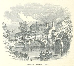 Bow, London - Bow Bridge depicted in 1851