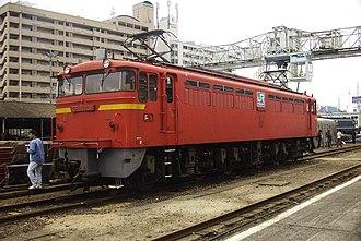 JNR Class EF67 - Image: EF67 104 No 1 end JRF Hiroshima 20021027